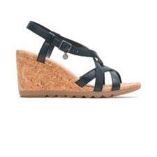Sandalias Pekingese Strappy Black Leather
